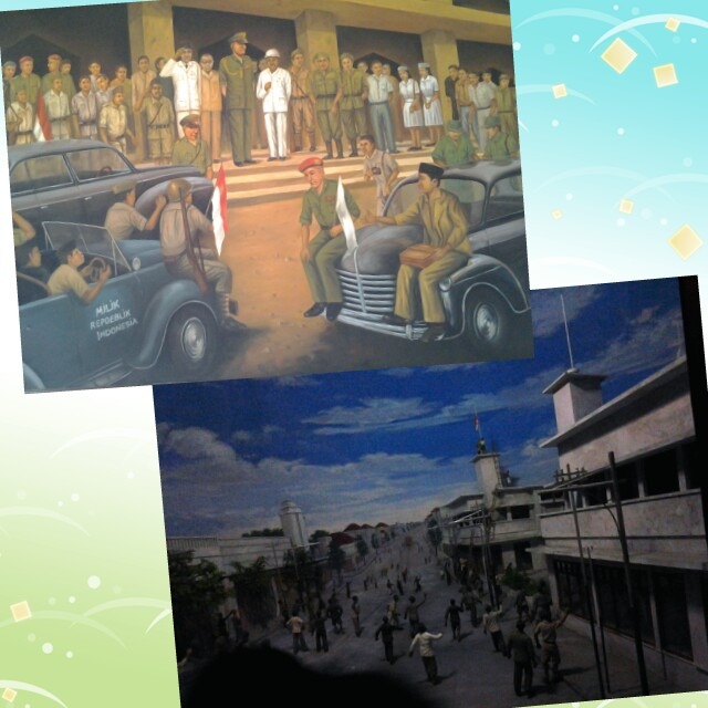 Lukisan dan diorama